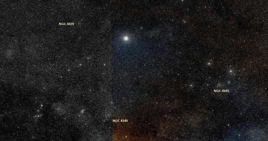 Ginan, NGC 4439, NGC 4349, NGC 4103