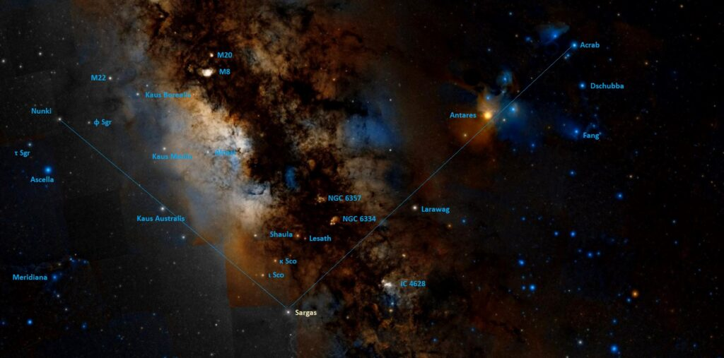 how to find sargas in the sky,where is theta scorpii