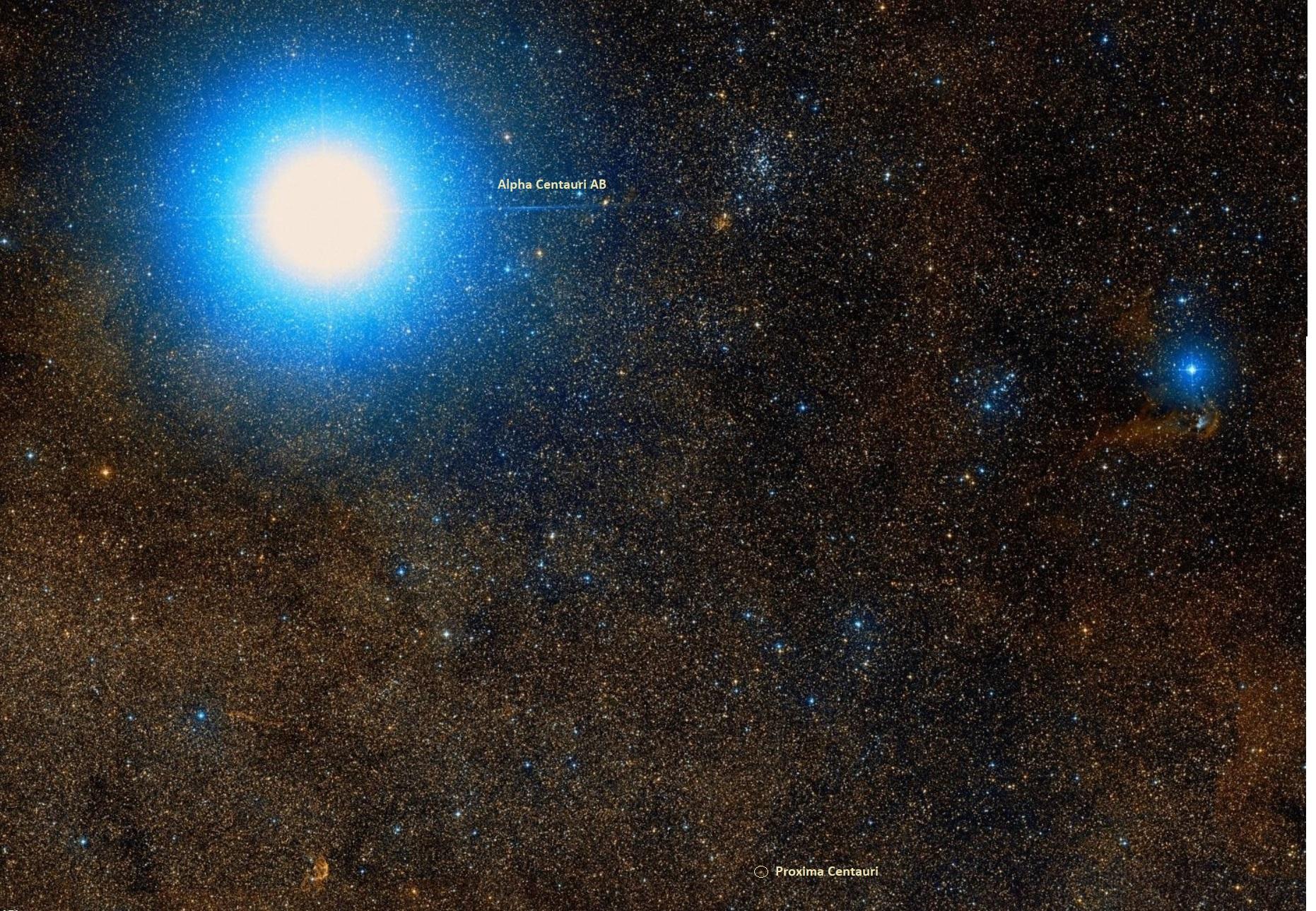 proxima centauri location