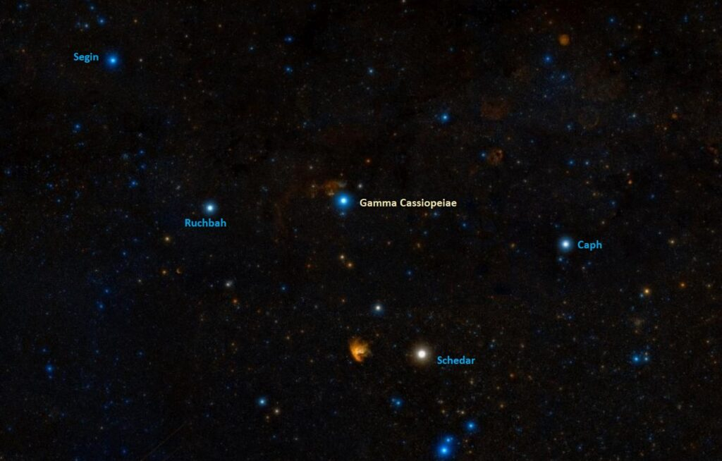 how to find gamma cassiopeiae, where is navi in the sky
