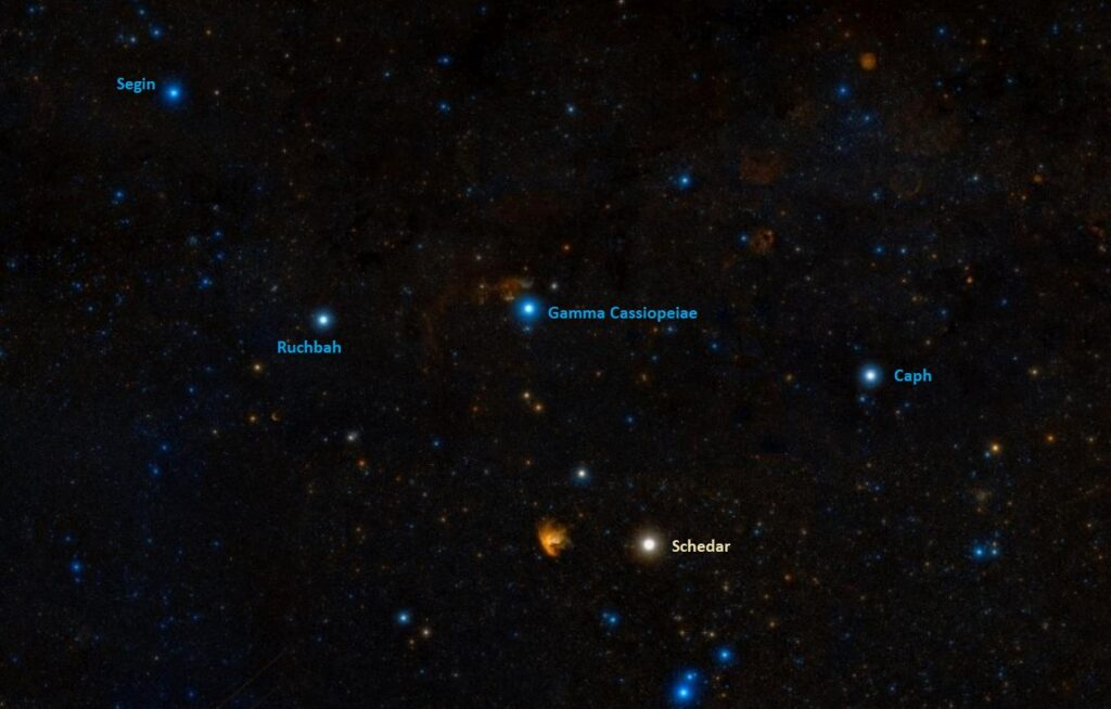 how to find schedar,where is alpha cassiopeiae